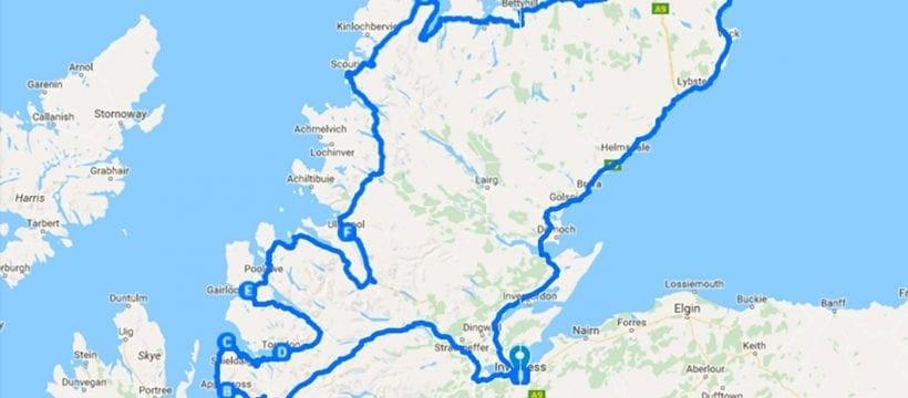 NC500: Ride Scotland's North Coast 500 | Downloadable  gpx