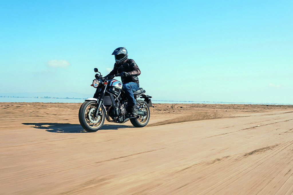 The new Yamaha XSR700 XTribute is a new fun bike with a small n and a big fat F.