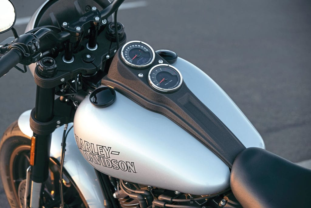 Close up snap of the Harley-Davidson Low Rider S