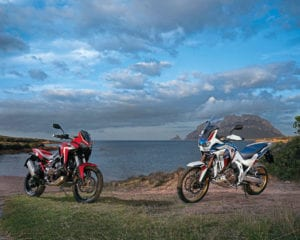 Closer look at the new Honda Africa Twin. Photo: Honda Europe.