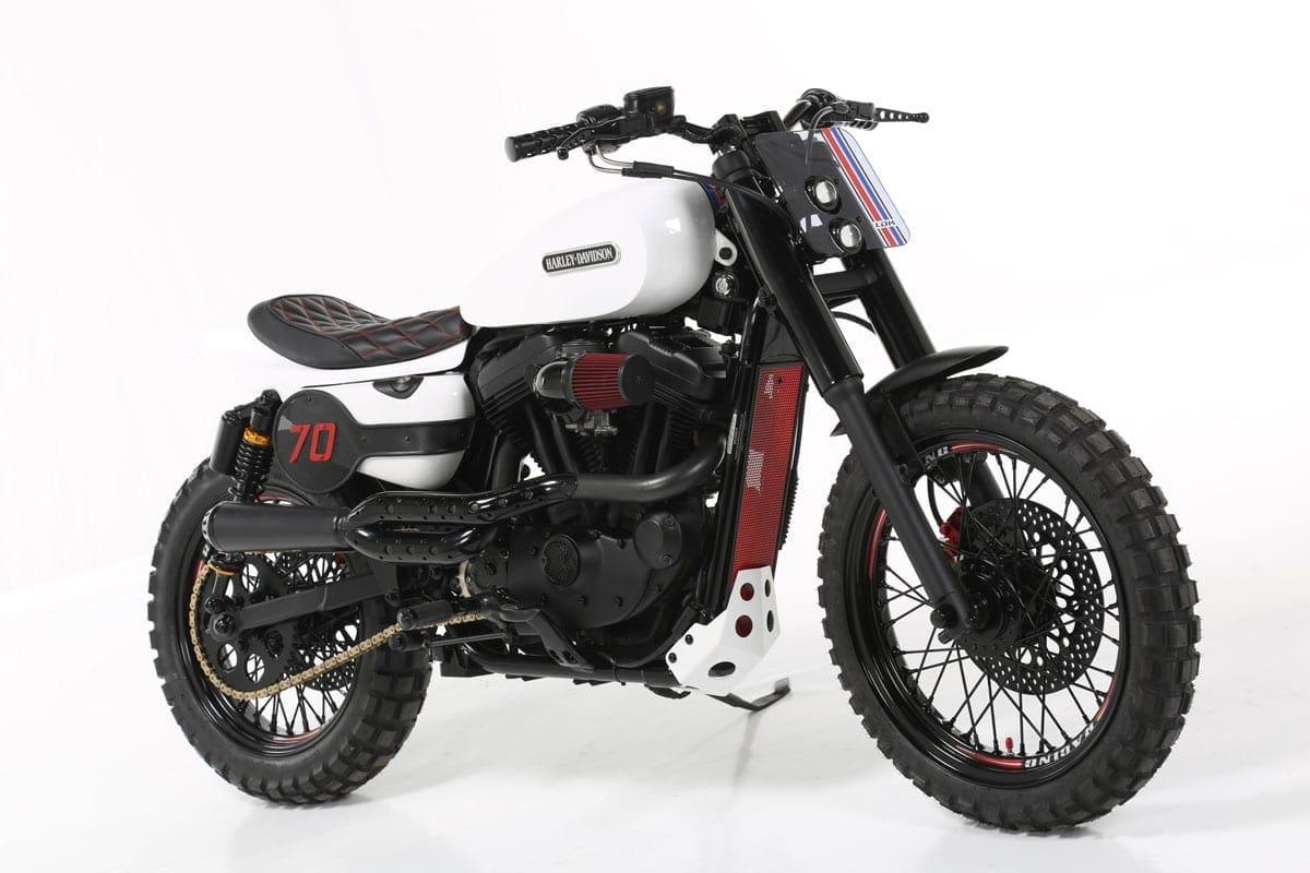 Seventy Harley-Davidson custom
