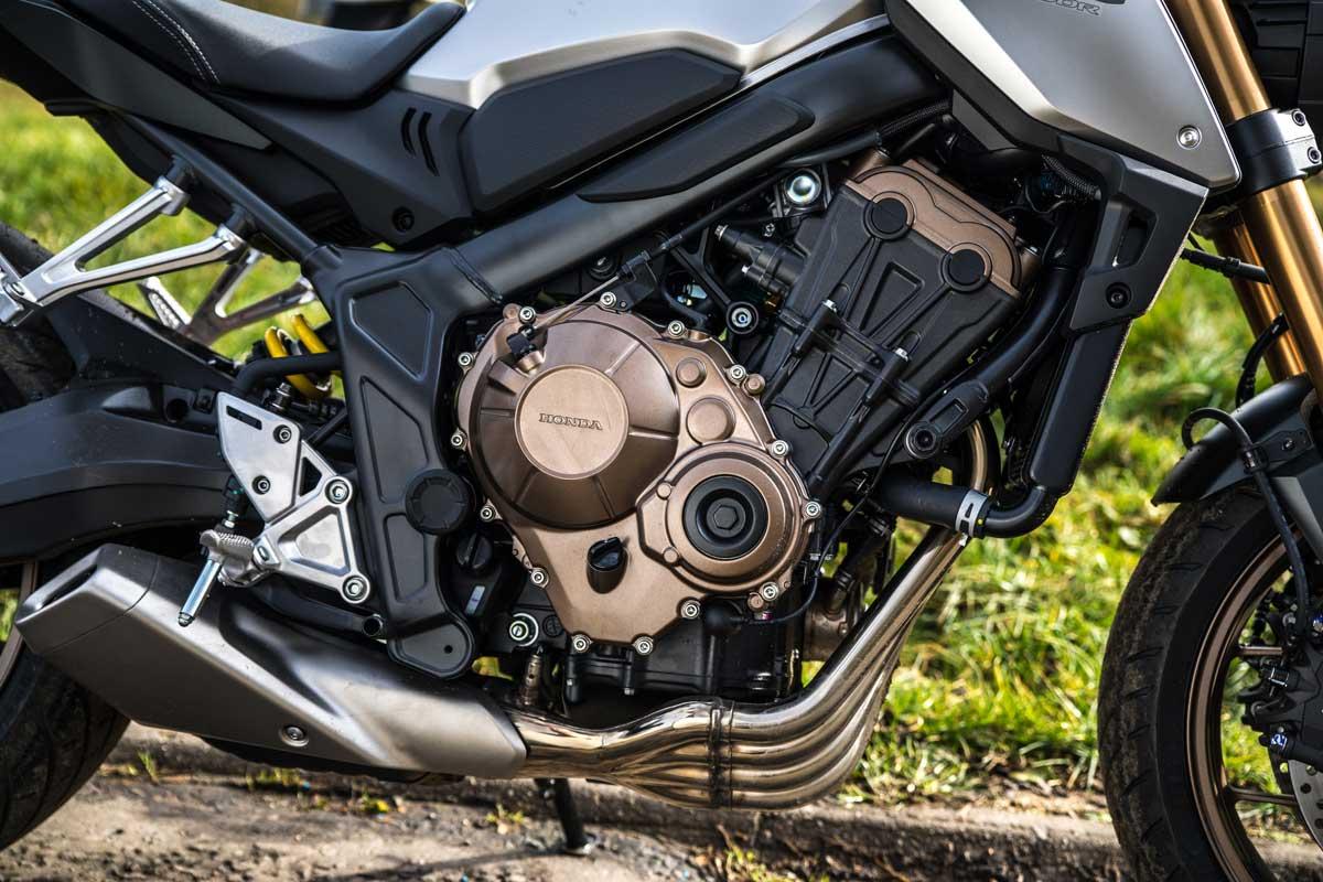Engine shot of the Honda CB650R
