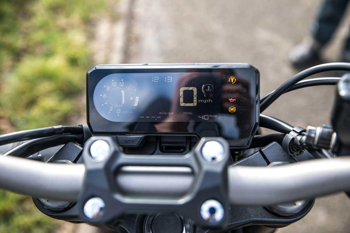 Honda CB650R dash